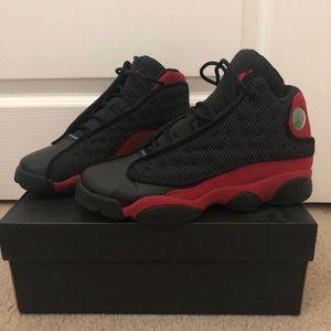 Black and Red Jordan 13s